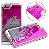 Beauty Case for iPhone 6 Plus,Cover for iPhone 6 Plus,Back Beauty Case for iPhone 6 Plus with 5.5inch Screen,Transparent Hard Beauty Case for iPhone 6 Plus,Mybase Creative Design Flowing Liquid Floating Luxury Bling Glitter Sparkle Stars Hard Beauty Case for Apple iPhone 6 Plus