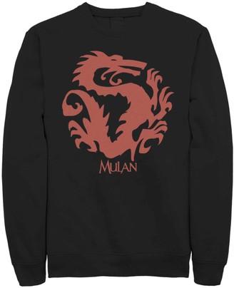 Dragon Optical Licensed Character Men's Disney Mulan Mushu Symbol Fleece Sweater