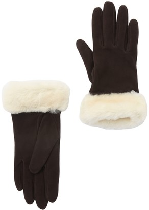 UGG Classic Suede Genuine Dyed Sheepskin Shorty Gloves