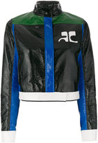 Courreges contrast stripe jacket