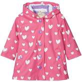 Hatley Color Changing Floating Hearts Splash Jacket Girl's Coat