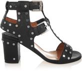 Laurence Dacade Helie studded textured-leather sandals