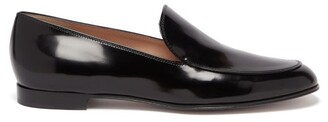 Gianvito Rossi Marcel Patent-leather Loafers - Black