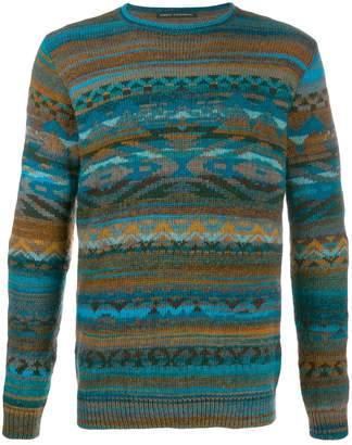 Daniele Alessandrini Aztec knitted jumper