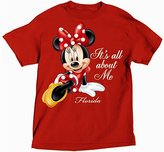 Disney Minnie Mouse ITS ALL ABOUT ME Womens Plus Size T Shirt - Red 2X