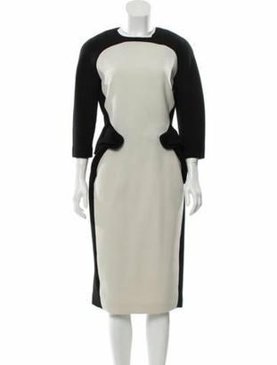 Bottega Veneta Wool Midi Dress Black