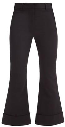 Joseph Tile Wool-blend Kick-flare Trousers - Black