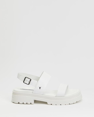 Windsor Smith Women's White Flat Sandals - Loyalty - Size 6 at The Iconic