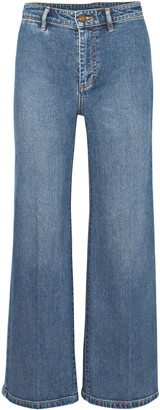 Vince Cropped Mid-rise Wide-leg Jeans