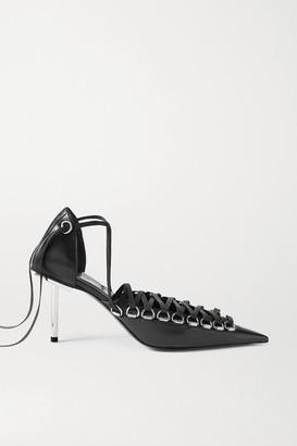 Balenciaga Corset Lace-up Leather Pumps - Black