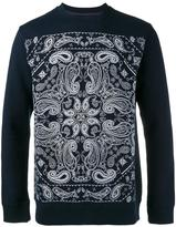 White Mountaineering paisley embroidery sweatshirt