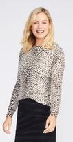 J.Mclaughlin Sancerre Cashmere Sweater in Cheetah