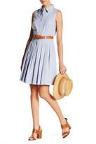 Tahari Pleated Shirt Dress (Petite)