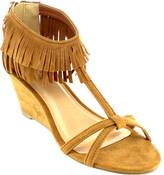 Women's Beston Frisky-01 Fringe Wedge Sandal