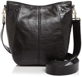 Halston Ali Medium Leather Bucket Bag