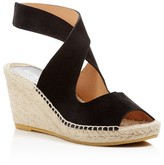 Bettye Muller Crisscross Espadrille Wedge Sandals