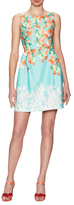 Donna Ricco Sleeveless Floral Flare Dress
