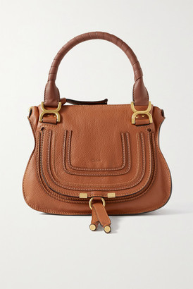 Chloé Marcie Small Textured-leather Tote - Tan