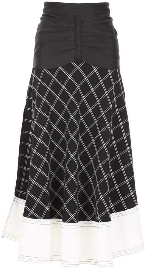 ceb88bf551b5 Checked Midi Skirt - ShopStyle