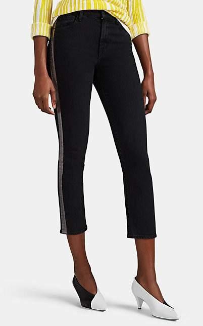 J Brand Women's Ruby High-Rise Crop Cigarette Jeans - Black