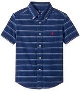 Polo Ralph Lauren Indigo Plain Weave Short Sleeve Button Down Top Boy's Short Sleeve Button Up