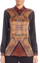 Etro Silk Charm Printed Button-Up