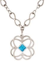 Jude Frances Topaz & Diamond Pendant Necklace