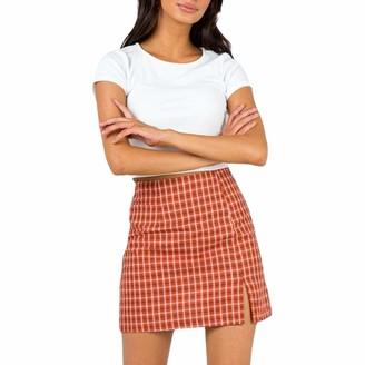 Xiaoqiao Women Girls Short High Waist Pleated Skater A-Line Flared Tennis School Skirt (White M)