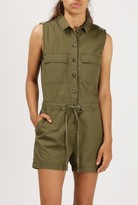 Azalea Button Down Cargo Romper