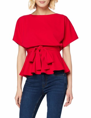 New Look Women's Go Batwing Belted Top Shirt