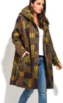 Everest Yellow Stripe Wool-Blend Peacoat