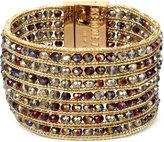 Kenneth Cole New York Gold-Tone Multi-Row Beaded Bracelet