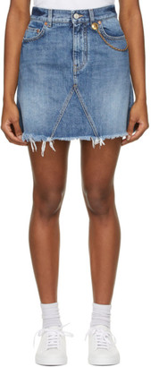 Givenchy Blue Denim 4G Chain Miniskirt