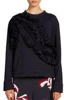 Cédric Charlier Ruffle-Front Sweatshirt