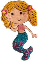 IBESTBUYSELL Little Mermaid Cute Yellow hair Iron on Patches Embroidered