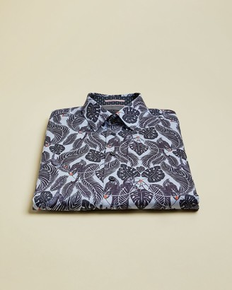 Ted Baker Monkey Print Cotton Shirt