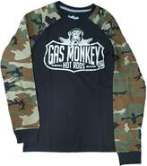 Fashion Gas Monkey Hot Rods w/ Camo Long Sleeve Thermal Graphic T-Shirt - 2XL