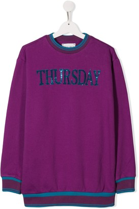 Alberta Ferretti Kids sequin Thursday jumper