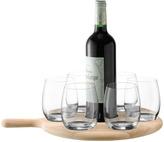 LSA International Paddle Water/Wine Serving Set & Oak Paddle