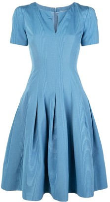 Oscar de la Renta Plunge-Neck Tea Dress