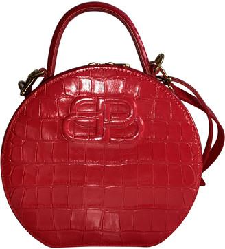 Balenciaga BB Round Red Patent leather Handbags