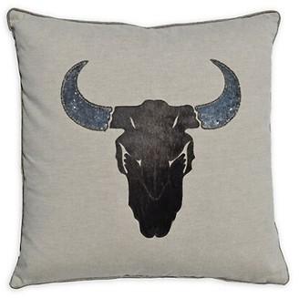 Callisto Home Beaded Linen & Calf Hair Pillow
