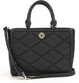 Kate Landry Perforated Plaid Satchel