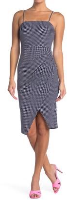 Betsey Johnson Square Neck Faux Wrap Dress (Regular & Plus Size)