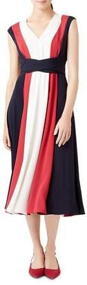 Hobbs London Bailly Tie-Waist Midi Dress