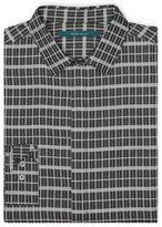 Perry Ellis Windowpane Plaid Pattern Shirt