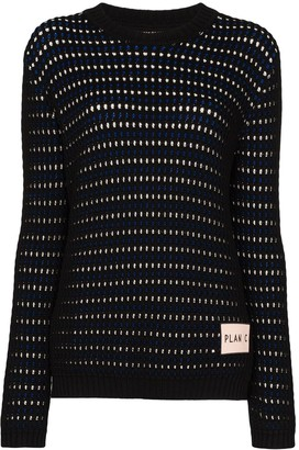Plan C Reversible Knitted Cotton Jumper