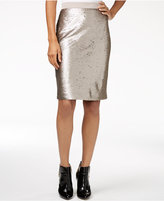 Maison Jules Sequined Pencil Skirt, Only at Macy's