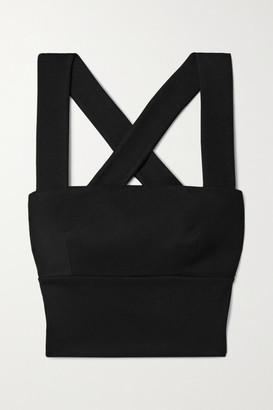 Rosetta Getty Cropped Stretch-jersey Top - Black