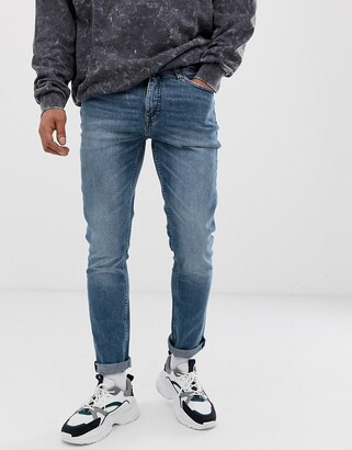 Cheap Monday sonic slim fit jeans in bail blue